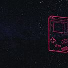 Classic Retro Gaming Handheld Epicness in Space by take-a-byte