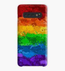 Rainbow Paint Splatter Flag Case/Skin for Samsung Galaxy