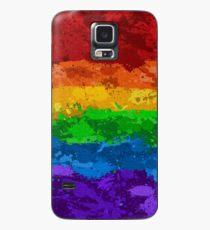 Regenbogenfarben-Spritzer-Flagge Hülle & Klebefolie für Samsung Galaxy