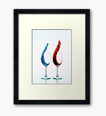 Red Vs. Blue Wine Framed Print
