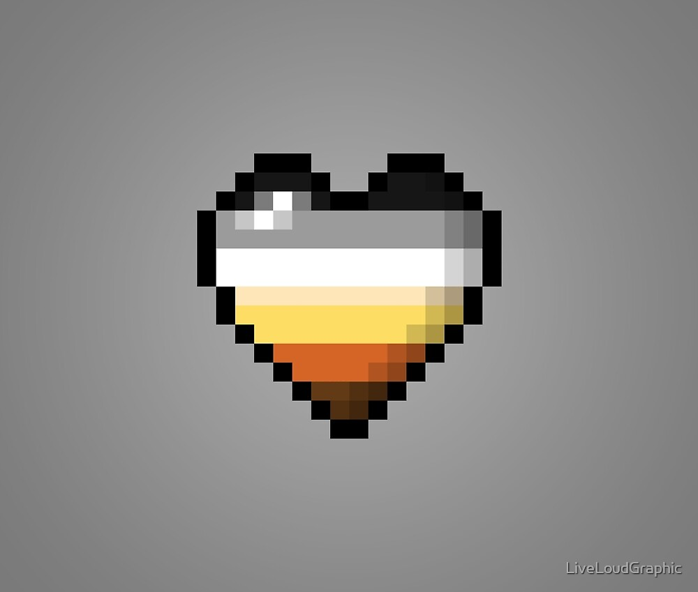 Bear Pixel Heart by LiveLoudGraphic