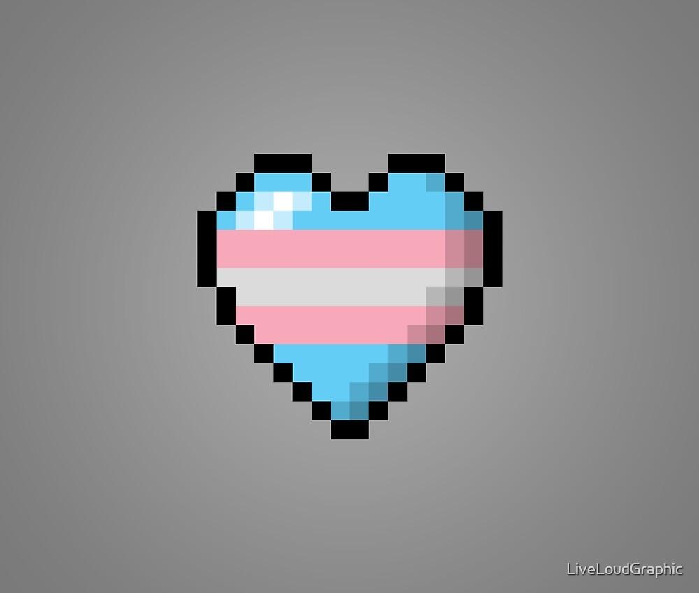 Transgender Pixel Heart by LiveLoudGraphic