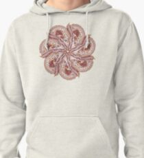 Seven Organic Arms Pods Seeds and Leaf Pullover Hoodie