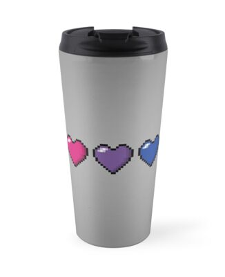 Bisexual Pixel Hearts by LiveLoudGraphic