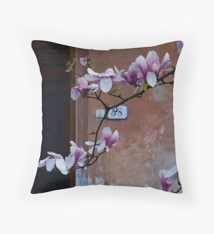 Magnolia House Throw Pillow