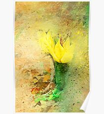 Yellow Tulip Scatter Poster