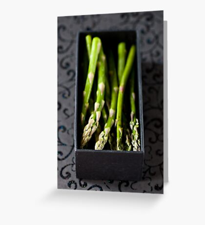 Asparagus in a box Greeting Card