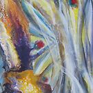 Martian Flower or Tesla on Mars, Original Art, Modern Abstract Expressionism, Painting by Dmitri Matkovsky