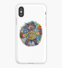 Abstract robot iPhone Case