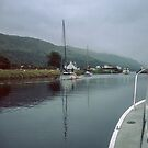 Boats at the lock Loch Oich, Caledonian Canal Scotland 19840912 0017M by Fred Mitchell