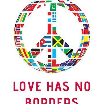 Immigration March Sticker Love Has No Borders Graphic Poster by nfarishta