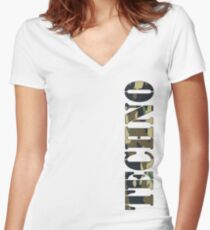 Techno Camo Phone Case Women's Fitted V-Neck T-Shirt