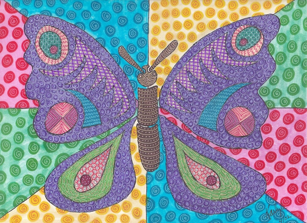 Alien Smile Butterfly by KarlyleTomms