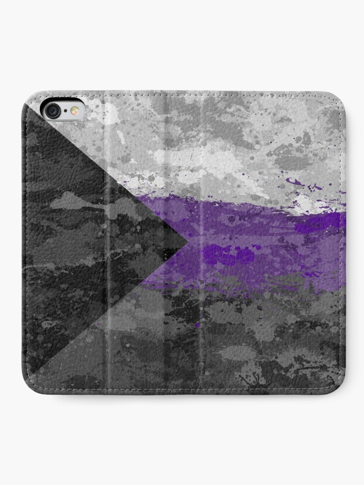 Alternate view of Demisexual Paint Splatter Flag iPhone Wallet