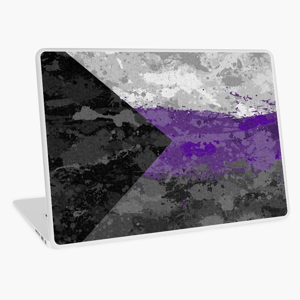 Demisexual Paint Splatter Flag Laptop Skin