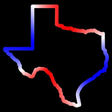 Texas Outline - Red, White, and Blue by lurchmerch