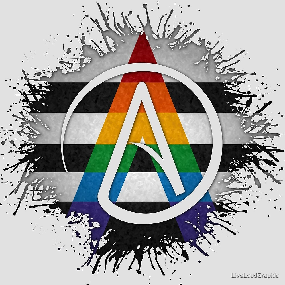 LGBT Ally Pride Atheist by LiveLoudGraphic