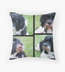 The Many Faces of Go Go Throw Pillow