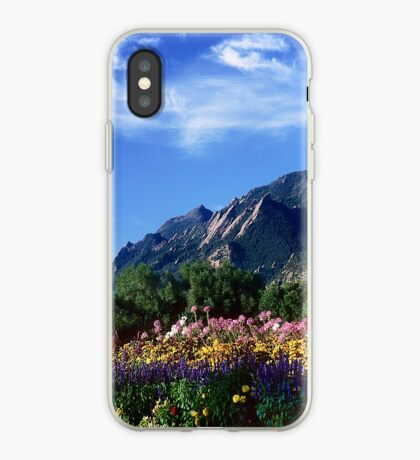 Flatirons and Flowers iPhone Case