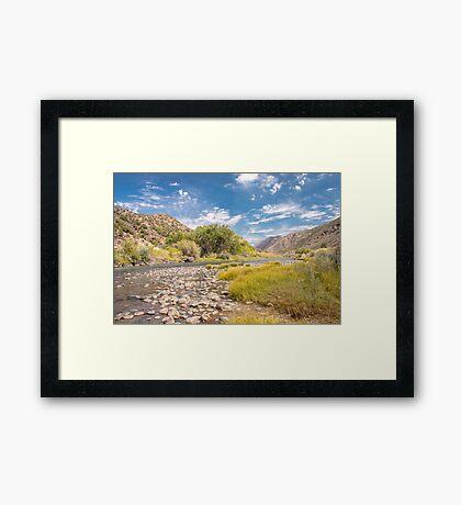 Rio Grande River between Taos and Santa Fe Framed Print