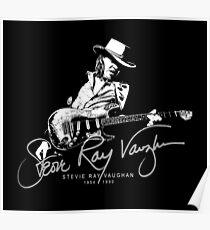 Stevie Ray Vaughan - Guitar-Blues-Rock-legend t2-SRV Poster