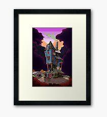 The Weasley's Burrow Framed Print