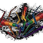 Graffiti Rainbow Lightning and Arrows by LiveLoudGraphic