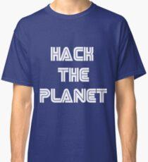 Hack The Planet Cyber Security Hacking Fun T-shirt Classic T-Shirt