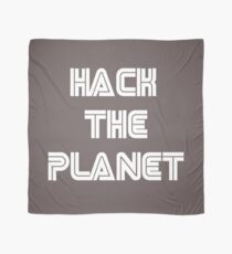 Hack The Planet Cyber Security Hacking Fun T-shirt Scarf