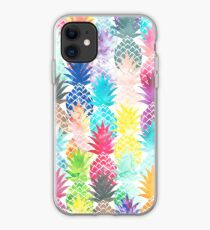 Hawaiisches Ananas-Muster-tropisches Aquarell iPhone-Hülle & Cover