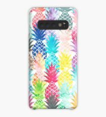 Hawaiian Pineapple Pattern Tropical Watercolor Case/Skin for Samsung Galaxy