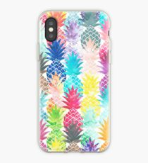 Hawaiian Pineapple Pattern Tropical Watercolor iPhone Case