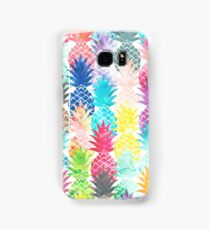 Hawaiian Pineapple Pattern Tropical Watercolor Samsung Galaxy Case/Skin