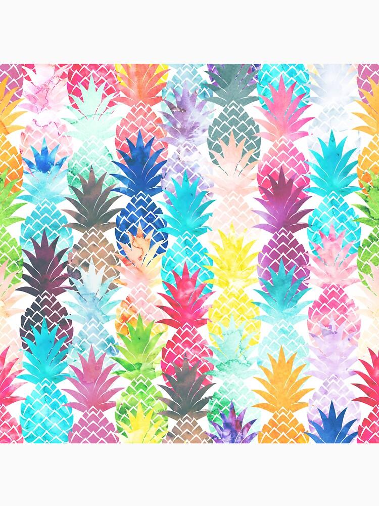 Hawaiisches Ananas-Muster-tropisches Aquarell von GirlyTrend