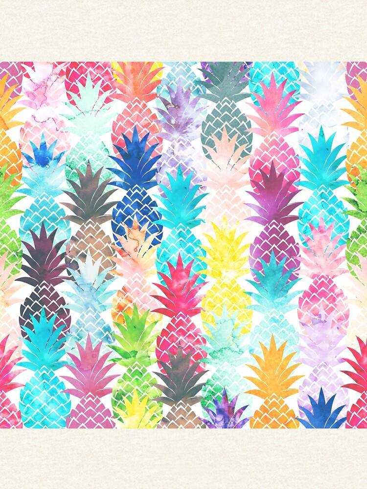 Patrón de piña hawaiana Acuarela tropical de GirlyTrend