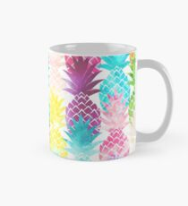 Hawaiian Pineapple Pattern Tropical Watercolor Mug
