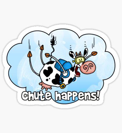 chute happens Sticker