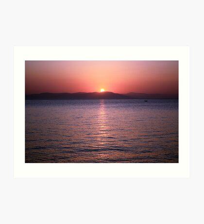 Aegean Sunrise Art Print