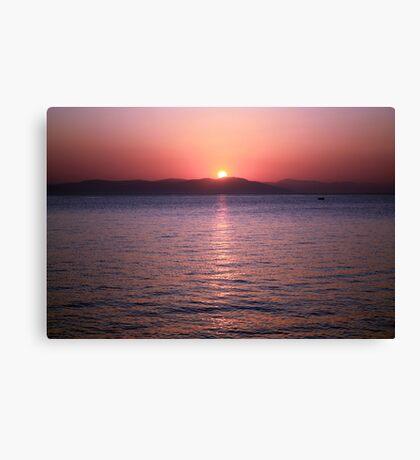 Aegean Sunrise Canvas Print