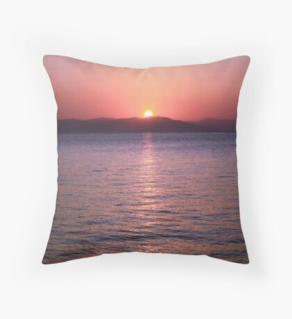 Aegean Sunrise Throw Pillow