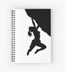 girl bouldering silhouette Spiral Notebook