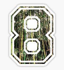 Tropical woody bamboos - Tree Pattern Sticker