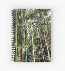 Tropical woody bamboos - Tree Pattern Spiral Notebook