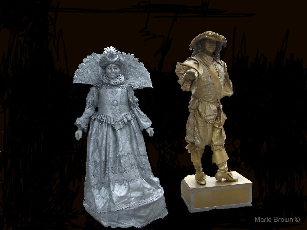 Human Statues by Marie Brown ©