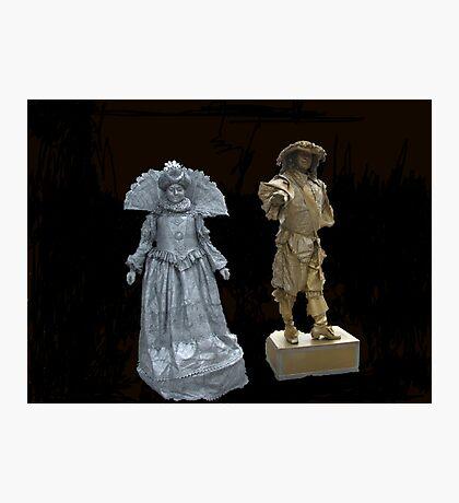 Human Statues Photographic Print