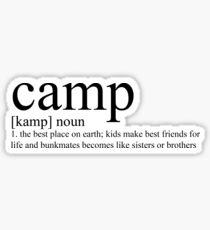 camp definition Sticker