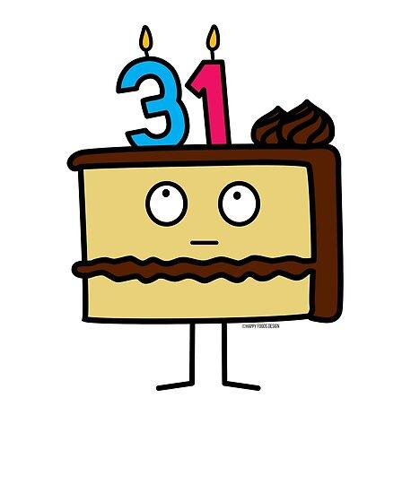 31st Birthday Cake With Candles Chocolate Icing Vanilla
