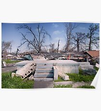 Steps of a Ruin on the Mississippi Coast after Katrina Poster