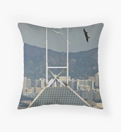 Two kites and a jumbo! Throw Pillow