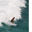 Catching a wave at Bondi, NSW by LozzaElizabeth
